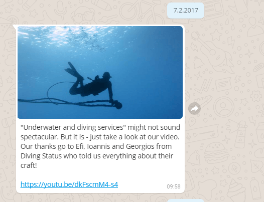 Drei WhatsApp Chats mit Bildern verschiedener Personen.