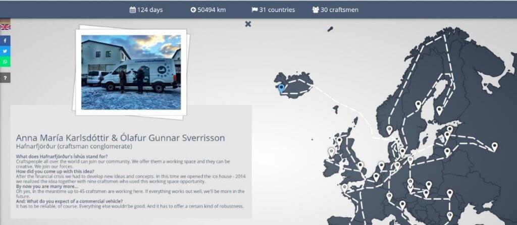 Screenshot einer Microsite