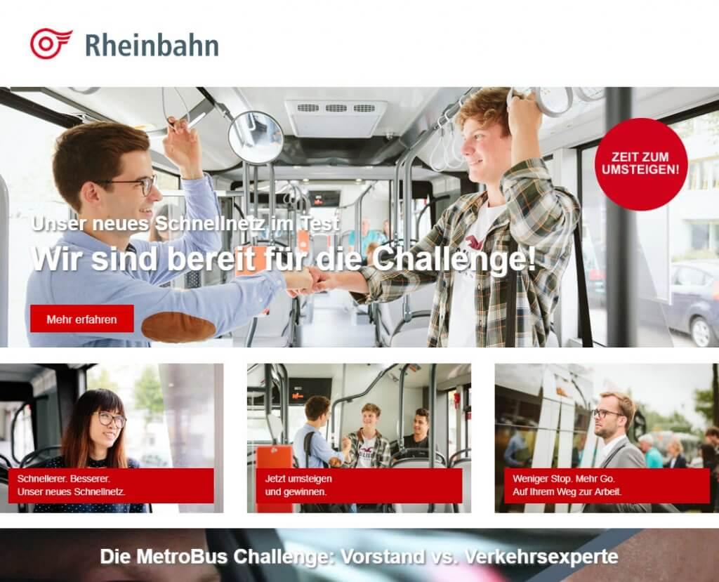 Rheinbahn MetroBusse Microsite