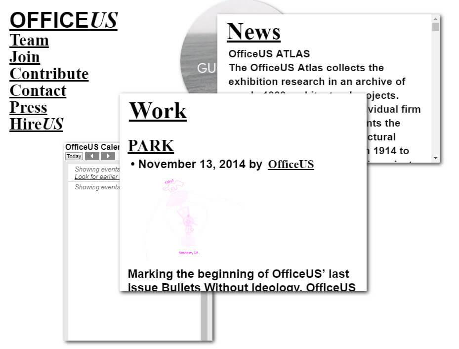 Screenshot der Webseite von officeus.org