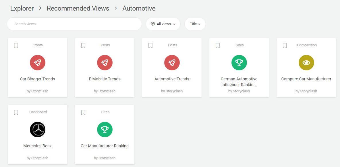 Screenshot aus STORYCLASH für Trends im Automotive-Bereich